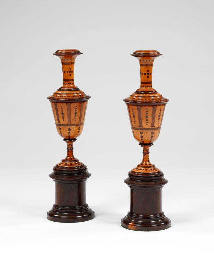 Pair 18th century chimney ornaments