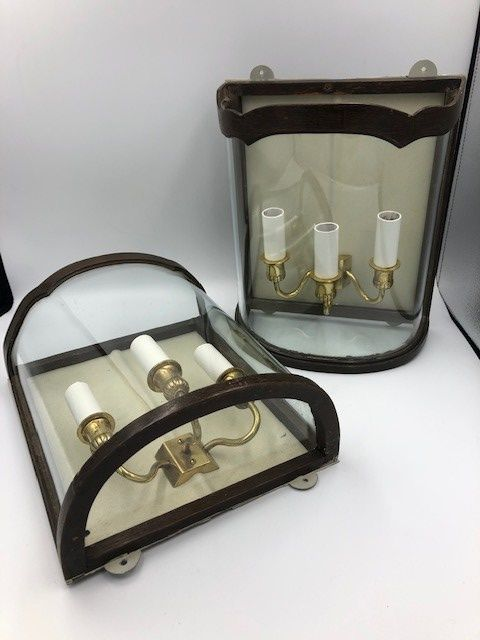 Pair of 20th century wall lights