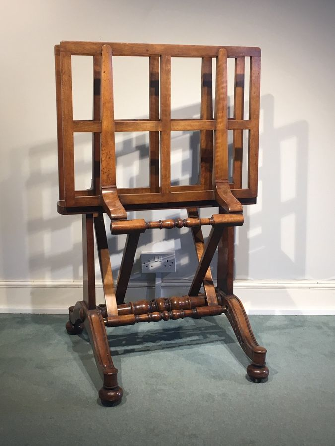 19th Century Walnut folio stand