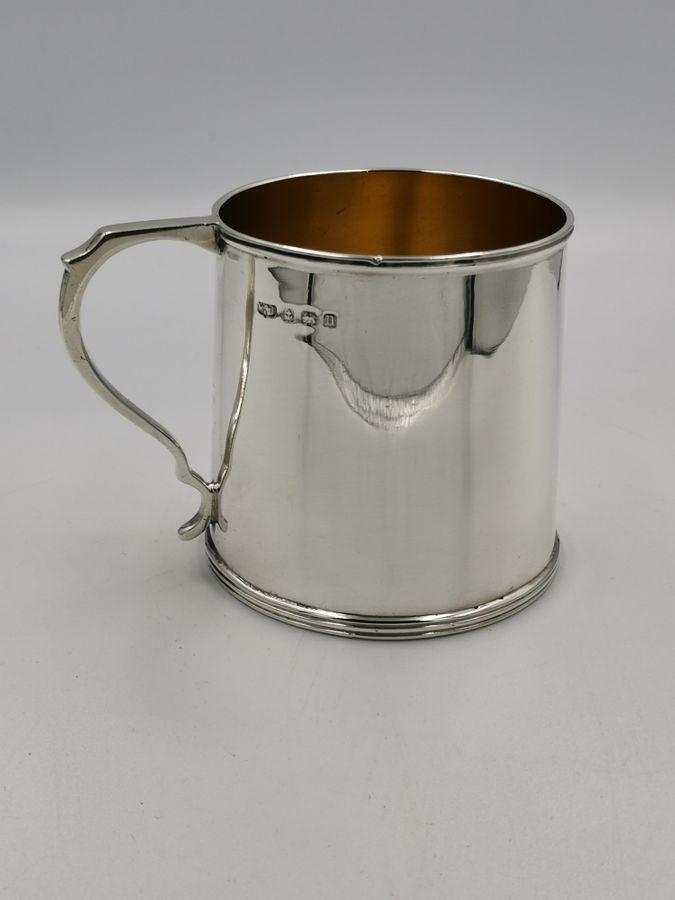Early 20th Century Mappin & Webb Silver Christening Mug