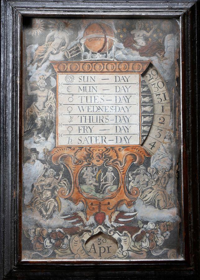 John Seller 17th century Perpetual Calendar