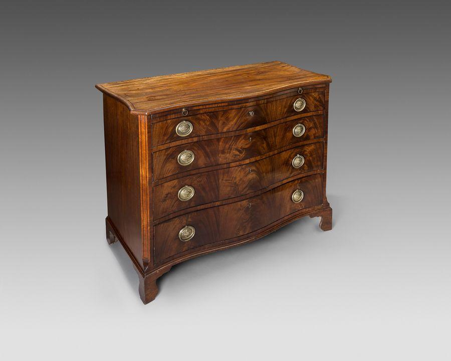 18th century serpentine chest