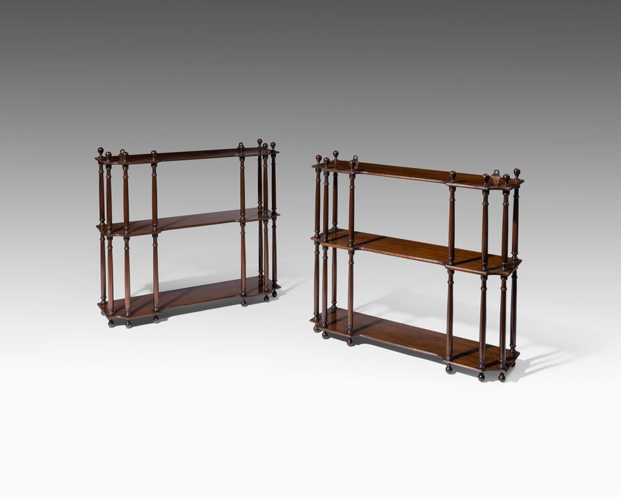 Pair of Late 18th Century Mahogany Hanging Shelves