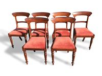 Set of Six William IV Mahogany Dining Chairs