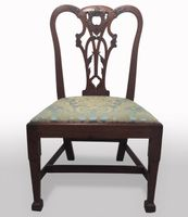 Set of seven (6 + 1) mid 18th century Chippendale style chairs