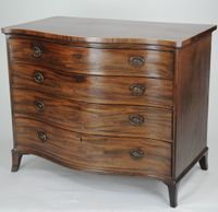 Serpentine Mahogany Chest of Drawers attributed to Gillows