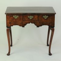 Fine Walnut Lowboy with unusual cabriole legs