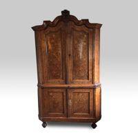 18th century Dutch marquetry full-height Corner Cupboard