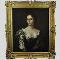 Oil on canvas portrait of a lady in the manner of John Riley