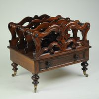 19th century carved mahogany Canterbury