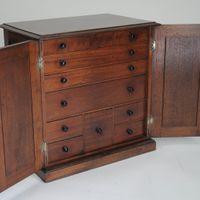 Mahogany two-door Collector's Cabinet