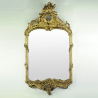 Early 19th century Gilded Continental Mirror