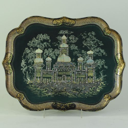 Large Papier-mâché Tray depicting Brighton Pavilion