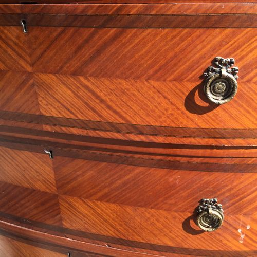 Late Victorian Sheraton revival satinwood triple Wardrobe