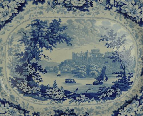 Large 19th century Staffordshire Meat Platter