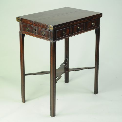 Fine 18th century mahogany folding Patience Table