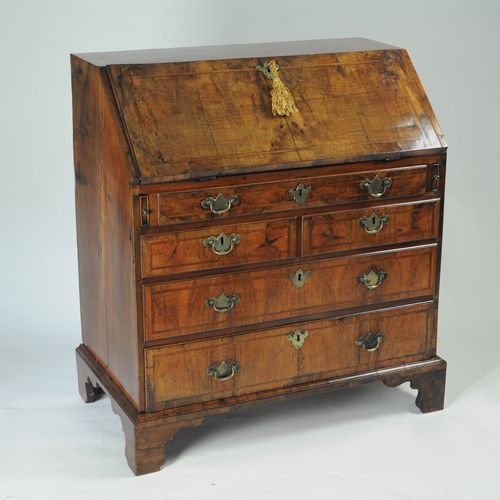Small George II walnut bureau