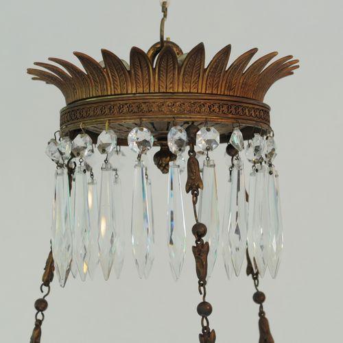 Fine Regency period cut glass and ormolu two tier Chandelier