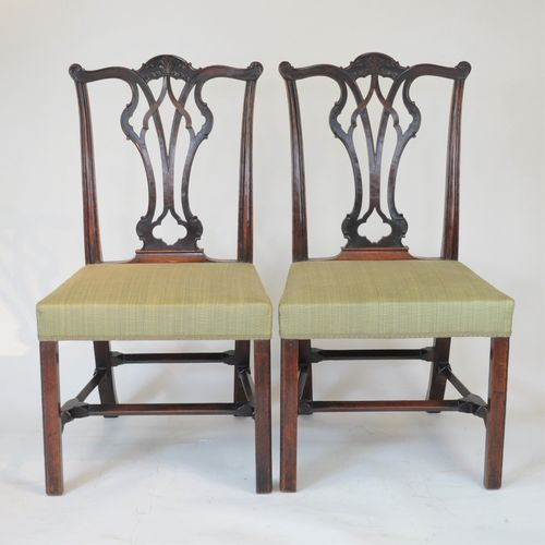 Pair of Chippendale inspired Mahogany side Chairs