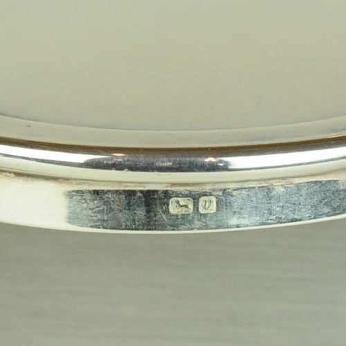Modern oval silver trinket box