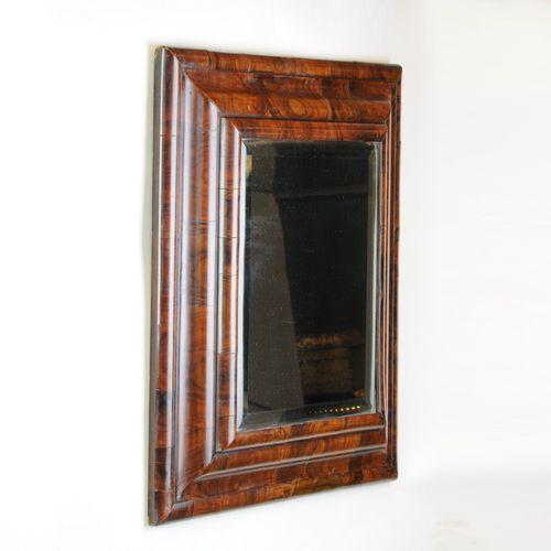 Queen Anne Oyster Veneered Cushion Mirror