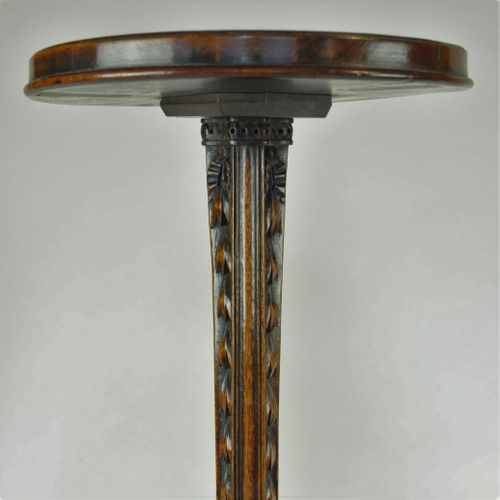 Pair of carved Adam period Mahogany Torchères