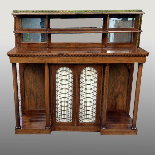 Regency Rosewood Breakfront Side Cabinet/chiffonier