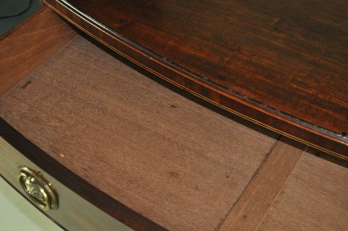 Finest quality George III Mahogany Bow Fronted Chest of Drawers