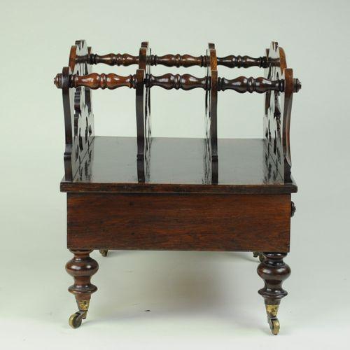 19th century carved mahogany Canterbury