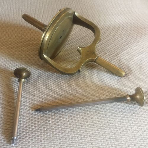 Vintage Watchmakers brass uprighting tool