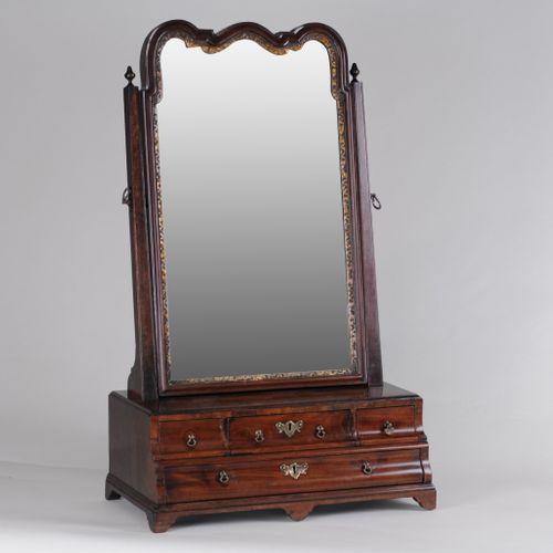 George II Walnut Dressing Table Mirror