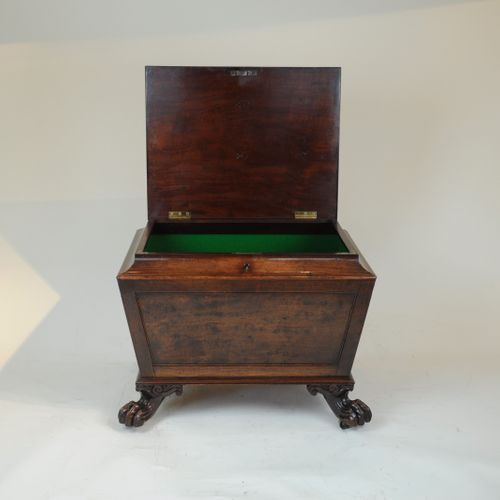 Regency mahogany sarcophagus cellarette