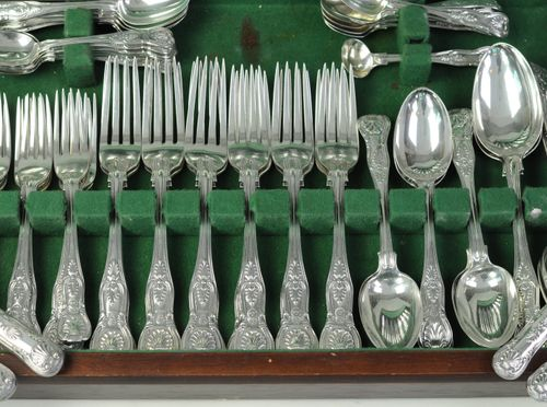 Canteen Silver Kings Pattern Cutlery, 12 Place settings