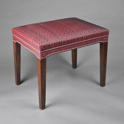 Georgian mahogany rectangular Stool