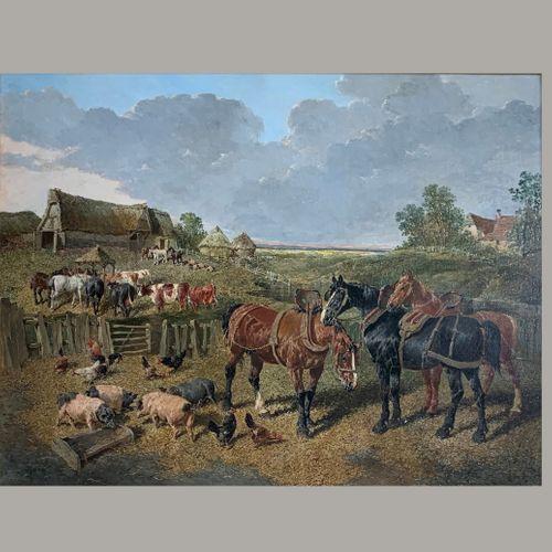 J.F. Herring Jnr. 1815 - 1907 Large Farmyard scene