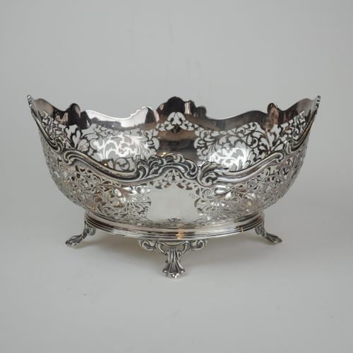 Pierced silver Fruit Basket