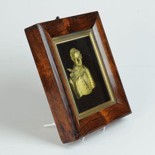 Rare gilded bronze bust of George IV in original frame