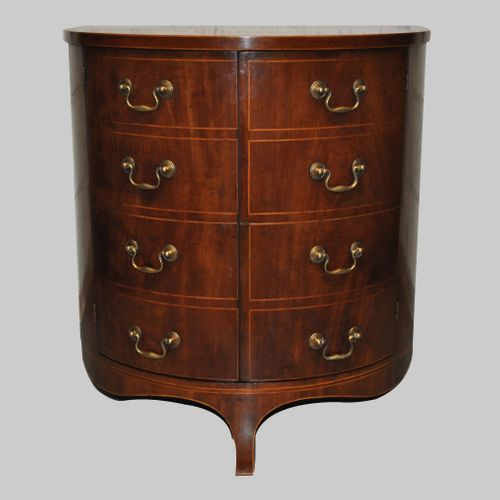 Gillows Bow fronted side cabinet