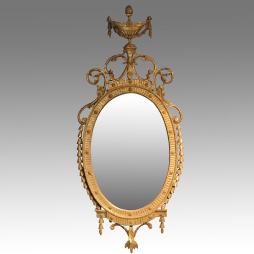 late 18th century oval gilt mirror