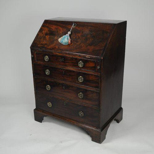 Small Georgian mahogany bureau