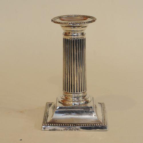 Silver Column Candlestick
