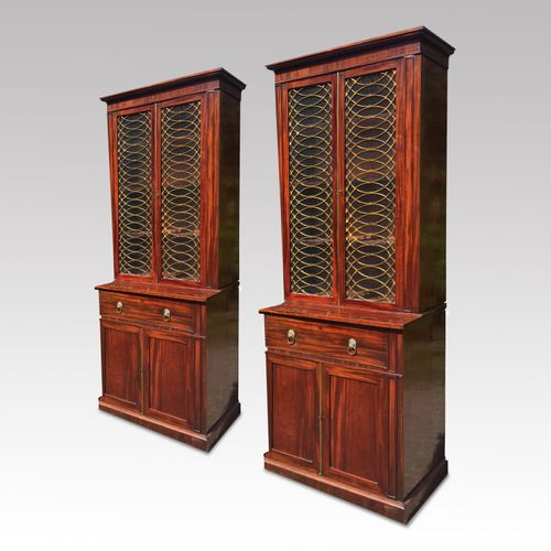 Pair of early 19th century mahogany bookcases