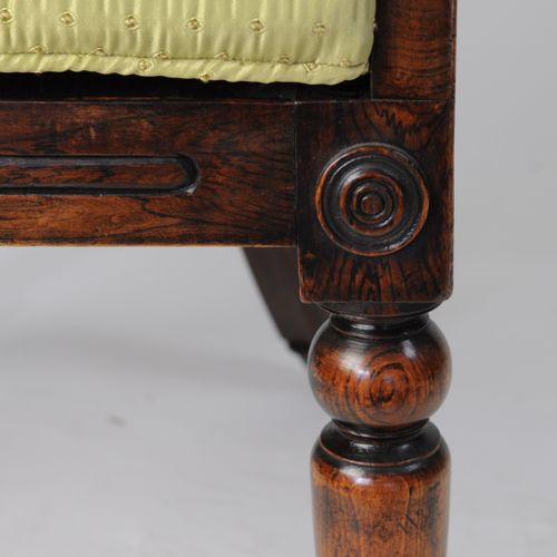 Good William IV simulated rosewood bergère side chair