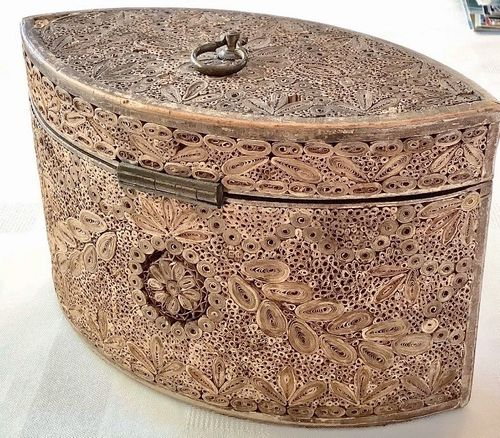 Fine rolled paper tea caddy