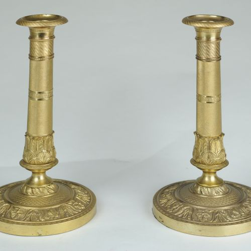 Pair of ormolu Candlesticks