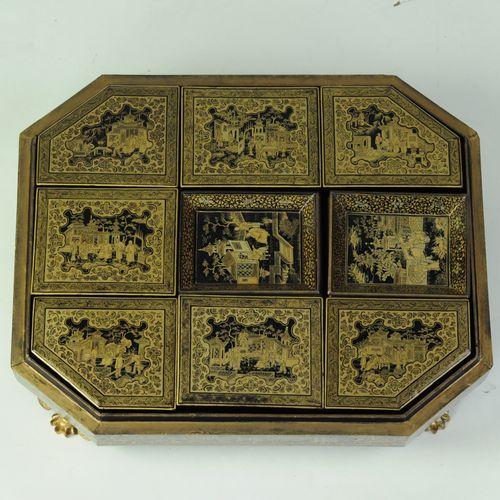19th century Chinese Papier-mâché games Compendium