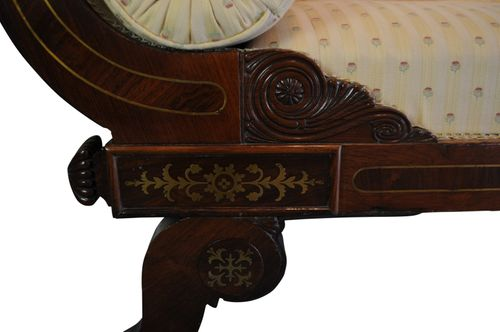 Exceptional Regency Barss Inlaid Chaise Longue