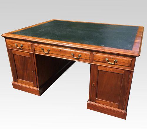 late 19th century mahogany Partners Desk
