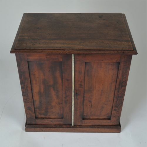 Mahogany two-door Collector's Cabinet