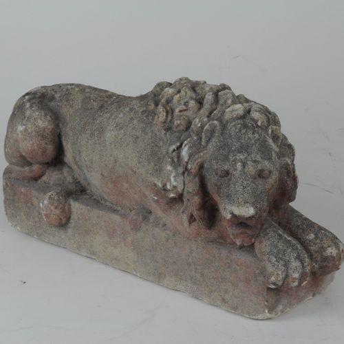 Pair of antique stone Lions
